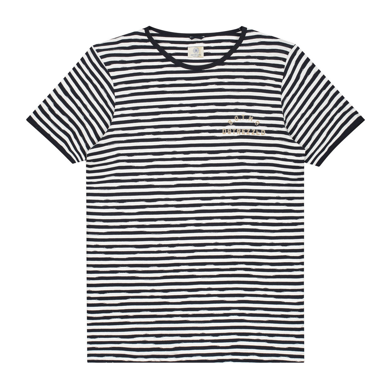 Dstrezzed T-shirt Gestreept / S
