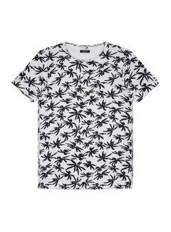 Dstrezzed T-shirt Print Palbomen Wit (202376 - 100)