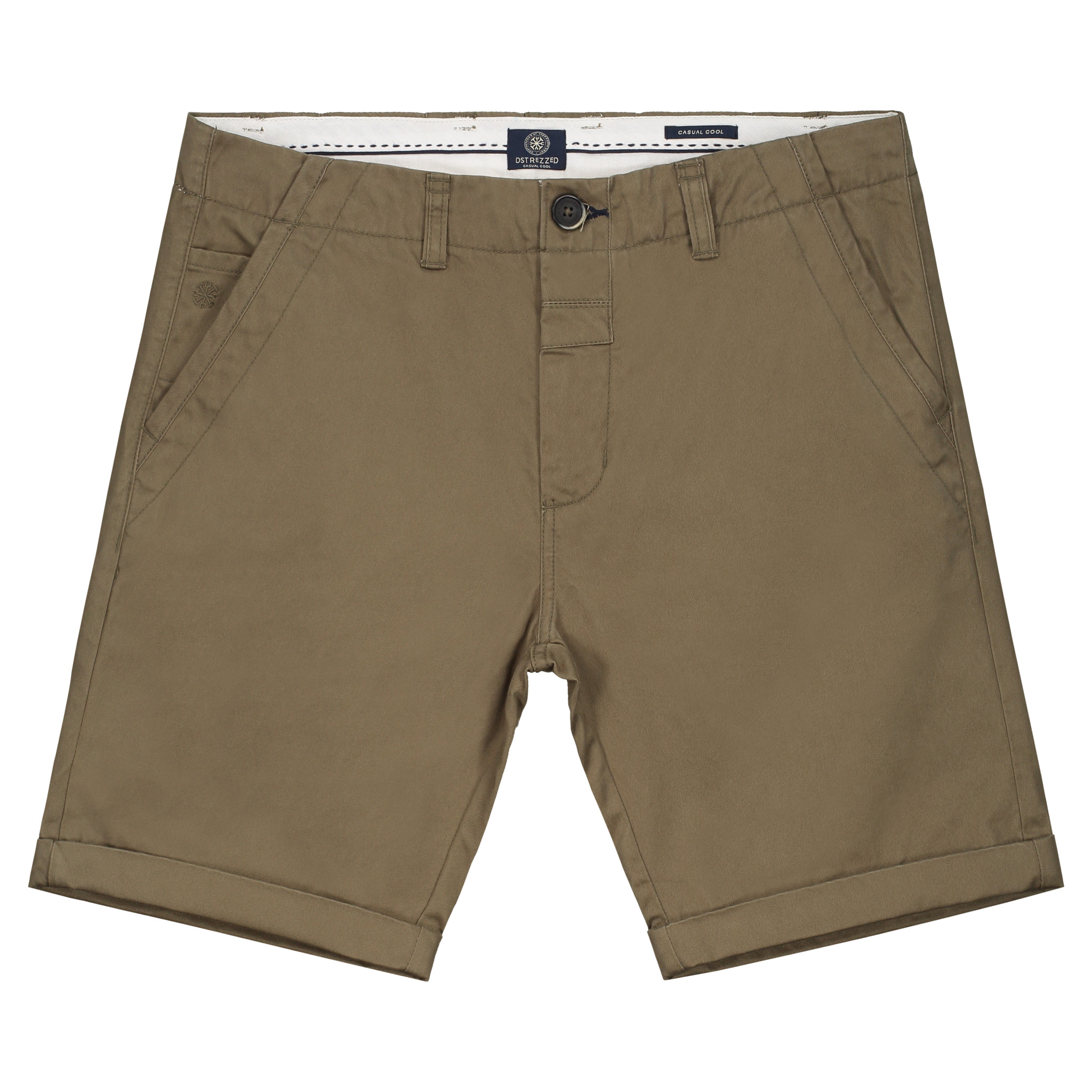 Dstrezzed Chino Short Army Green