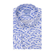 Tresanti Overhemd Regular Fit Flamingo Wit Met Blauw (TCSHDA088A)