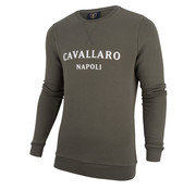 Cavallaro Napoli Sweater Morki Groen (2091004 - 53000)