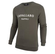 Cavallaro Napoli Sweater Morki Groen (2091004 - 53000)