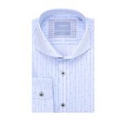 Tresanti Overhemd Slim Fit Wit Met Blauwe Streep (TCSHDA072B)