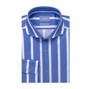 Tresanti Overhemd Tailored Fit Streep Blauw Met Wit (TCSHDA078A)