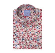 Tresanti Overhemd Tailored Fit Bloemenprint Wit Met Roze/Blauw (TCSHDA084A)