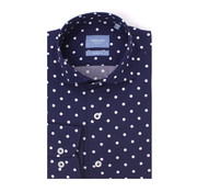 Tresanti Overhemd Tailored Fit Stip Navy Met Wit (TCSHDA085A)