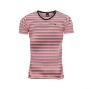 Scotch & Soda T-shirt Streep Navy/Wit/Rood (149001 - 0587)