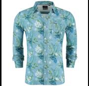 New Zealand Auckland Overhemd Spring Sky Blauw Print (19CN554 - 292)
