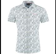 New Zealand Auckland Korte Mouw Overhemd Wit Print (19CN552D - 10)