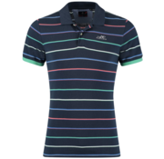 New Zealand Auckland Polo Marine Blauw Met Multicolour Print (19CN104 - 282)