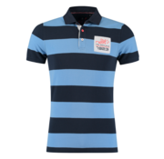 New Zealand Auckland Polo Sky Blauw Streep (19CN126 - 292)