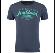 New Zealand Auckland T-Shirt Marine Blauw Tekst  (19CN703 - 282)