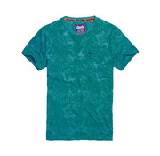 Superdry T-shirt print Turquoise  (M10114YT - OK6)