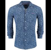 New Zealand Auckland overhemd Weddells Print Blauw (19BN592 - 282)