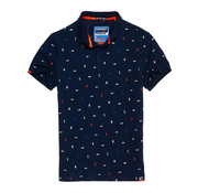 Superdry Polo Print Navy (M11003RT-S2L)
