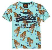 Superdry T-shirt Print Tijger Groen (M10104ST-C3B)