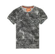 Superdry T-shirt Print Bladeren Grijs (M10114YT-HNK)