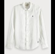 Scotch & Soda Overhemd Regular Fit Linnen Wit (148849 - 0102)