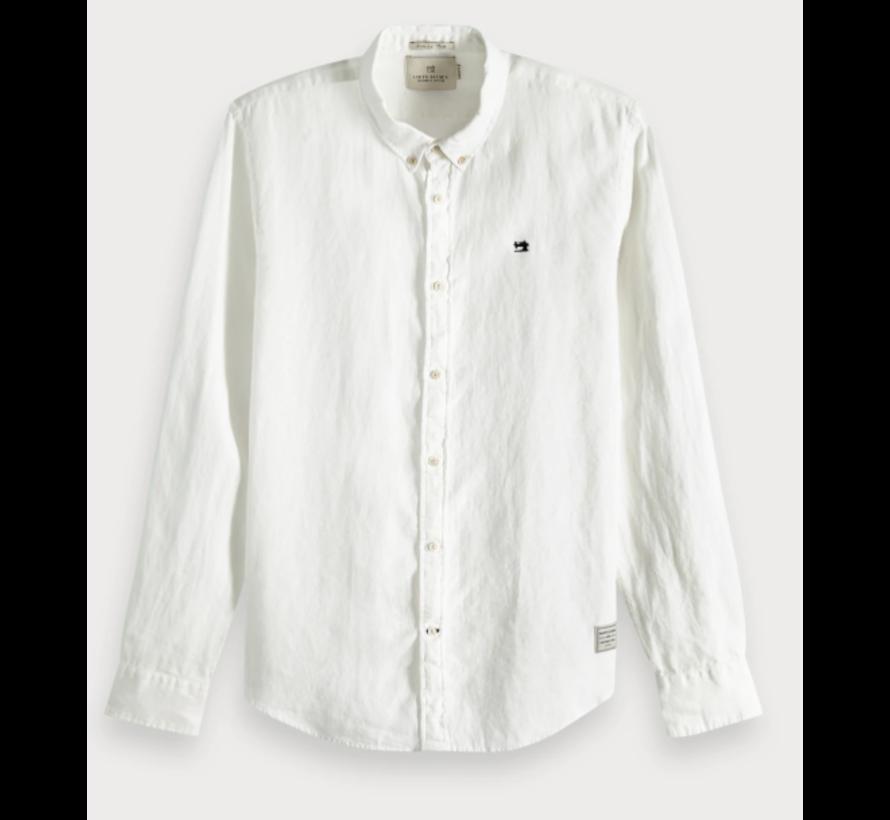Overhemd Regular Fit Linnen Wit (148849 - 0102)