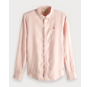 Scotch & Soda Overhemd Regular Fit Linnen Roze (148849 - 0181)