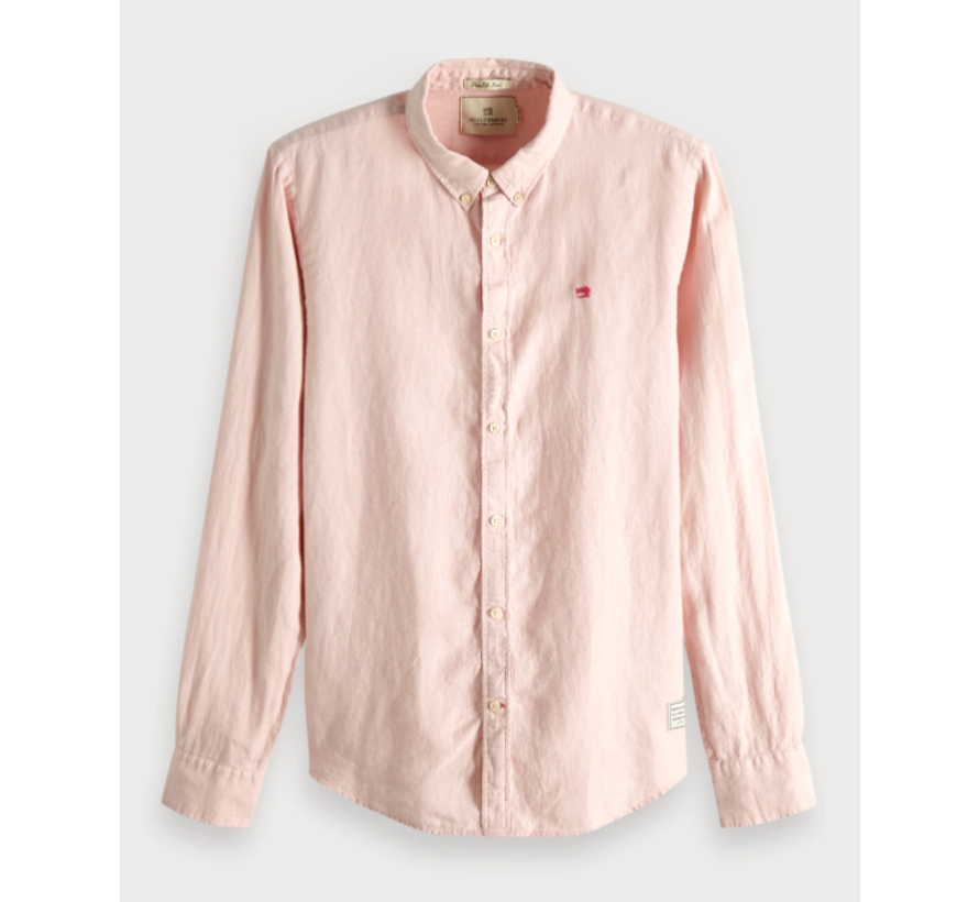 Overhemd Regular Fit Linnen Roze (148849 - 0181)