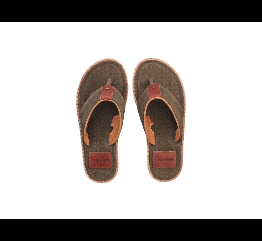 Rehab Slippers Raoul Art Deco Groen (1812 250506 - 6400)