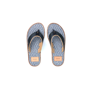Rehab Slippers Raoul Checker Wit/Blauw (1812 250502 - 0783)