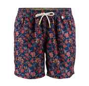 New Zealand Auckland Zwemshort Hastings Bloemen Print Navy (19DN651 - 289)