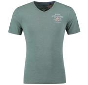 New Zealand Auckland V-Hals T-shirt Catlins Groen (19DN706 - 453)