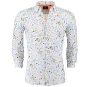 New Zealand Auckland Overhemd Barrett Bloemen Print Wit (19DN508 - 40)