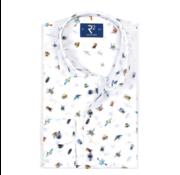 R2 Amsterdam Overhemd Extra Mouwlengte print Wit (104.WSP.XLS.107 - 014)
