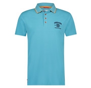 A Fish named Fred Korte Mouw Polo Pique Met Logo Licht Blauw (91.04.303)