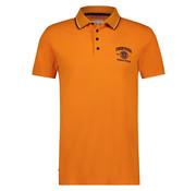 A Fish named Fred Korte Mouw Polo Pique Met Logo Oranje (91.04.304)