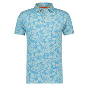 A Fish named Fred Korte Mouw Polo Jersey Bloemen Blauw (91.04.305)