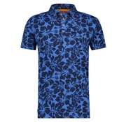 A Fish named Fred Korte Mouw Polo Jersey Bloemen Navy Blauw (91.04.307)