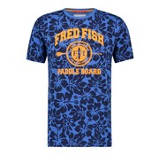 A Fish named Fred T-shirt Jersey Bloemen Navy Blauw Met Logo (91.04.400)