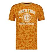 A Fish named Fred T-shirt Jersey Bloemen Oranje Met Logo (91.04.401)
