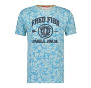 A Fish named Fred T-shirt Jersey Bloemen Licht Blauw (91.04.402)