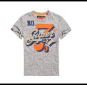 Superdry T-shirt Super Seven Gemêleerd Grijs (M10992AT - C3V)