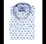 Culture Overhemd Korte Mouw Modern Fit Print Wit (214957 - 10)