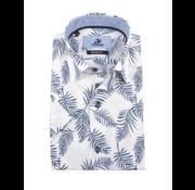 Culture Overhemd Korte Mouw Modern Fit Print Wit (214981 - 35)