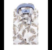 Culture Overhemd Korte Mouw Modern Fit Print Wit (214981 - 45)