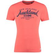 New Zealand Auckland T-Shirt Neon Oranje Tekst  (19CN703 - 638)