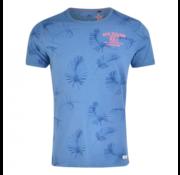 New Zealand Auckland T-Shirt Hawkins Blauw print (19DN704 - 258)