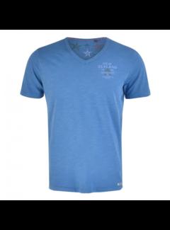 New Zealand Auckland V-Hals T-shirt Catlins Blauw (19DN706 - 258)
