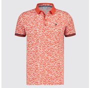 Blue Industry Polo Print Red (KBIS19 - M71 - Red)