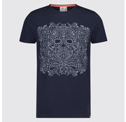 Blue Industry T-Shirt Marine Opdruk (KBIS19 - M75 - Marine)