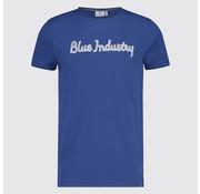 Blue Industry T-Shirt Kobalt Tekst (KBIS19 - M76 - Kobalt)