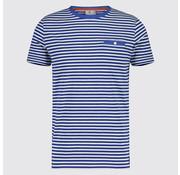 Blue Industry T-Shirt Streep Kobalt Blauw (KBIS19 - M79 - Kobalt)