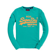 Superdry Summer Sweater Logo Print Groen (M20308TU - T4N)